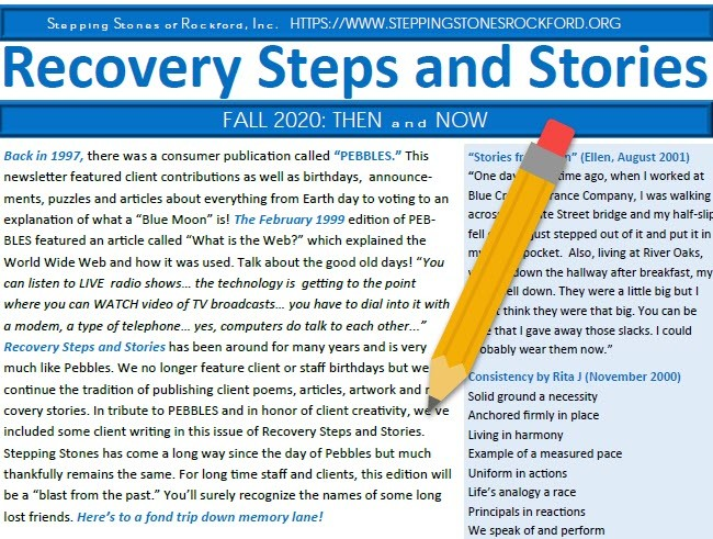 Recovery Steps and Stories: Fall 2020
